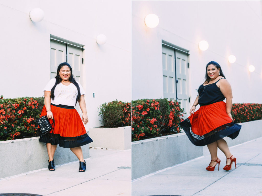 Plus Size Valentine's Day OOTD: One Skirt, Two Looks